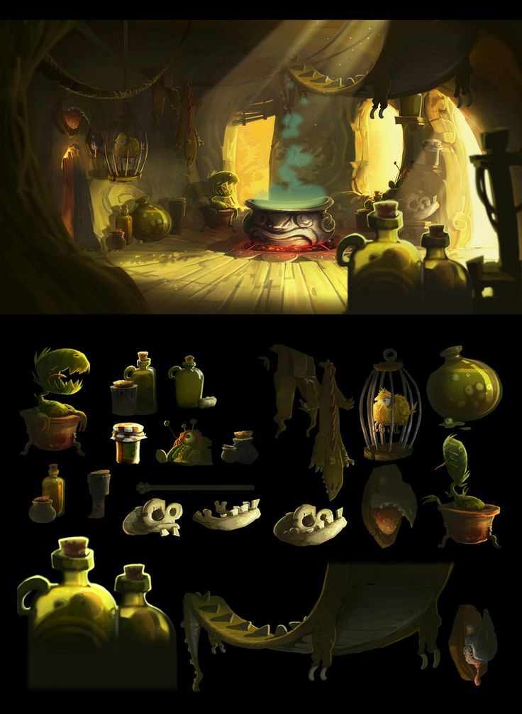 #лаборатория Visual development : RAYMAN LEGENDS