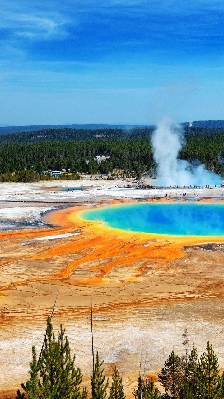 Emerald Spring Yellowstone National Park Yellowstone National Park National Parks Yellowstone