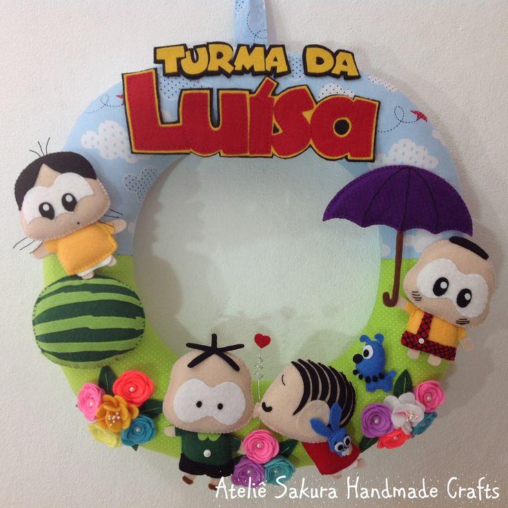 Guirlanda Porta de Maternidade tema Monica Toy para a Luísa