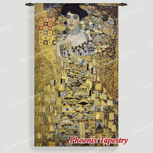 Gustav Klimt Portait Adele Bloch-Bauer I (Golden) Huge Fine Art Tapestry, UK