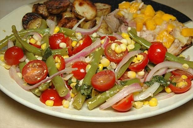 Salad With Corn, Cherry Tomatoes & Basil from Food.com: This salad ...