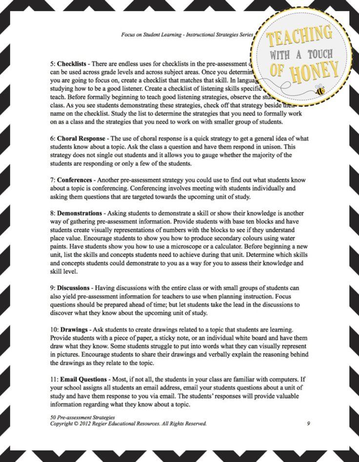 assessment strategies Assessment strategies strategy definition classroom presentations a classroom presentation is an assessment strategy that requires mod21_assessment_strgs.