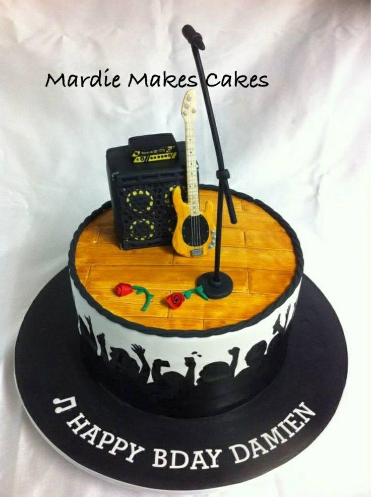 Musician's Cake (Bass Player/Lead Singer)  www.facebook.com/MardieMakesCakes