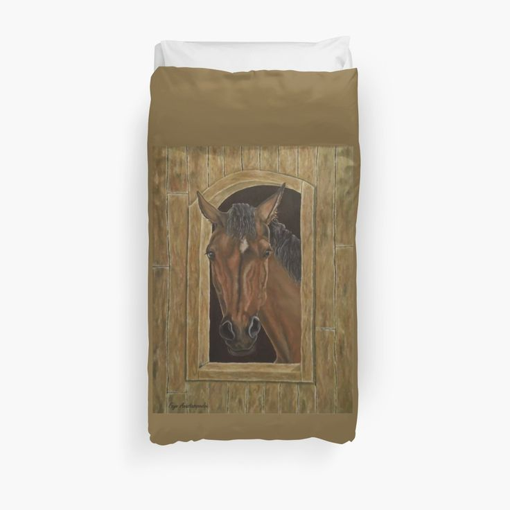 Duvet Cover, bed decor, for sale, home,accessories,bedroom,decor,cool,unique,fancy,artistic,trendy,unusual,awesome,beautiful,modern,fashionable,design,items,products,ideas,brown,earthly colors, horse, equine, equestrian, wild, animal, wildlife, portrait, redbubble