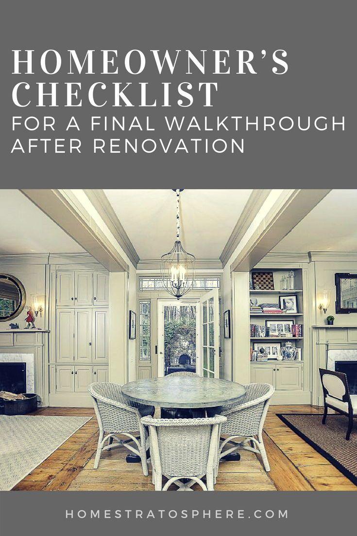Homeowner\'s Checklist for a Final Walkthrough After ...