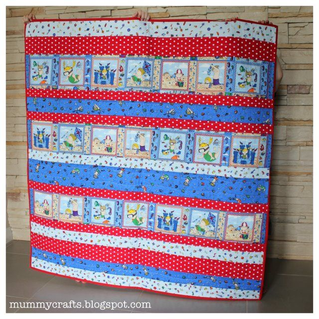 Sew a kid-sized quilt with this easy strip quilt tutorial - one of the easiest quilts I've ever made!