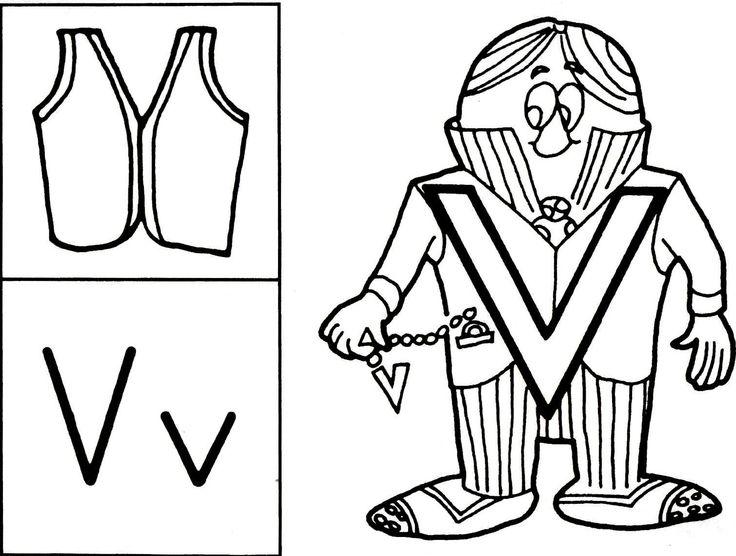 38 best letter v crafts images on pinterest the alphabet for Letter v coloring pages preschool
