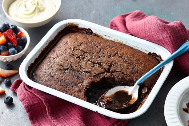 There is no better way to warm up on a cold winter's night than a warm sticky chocolate pudding.