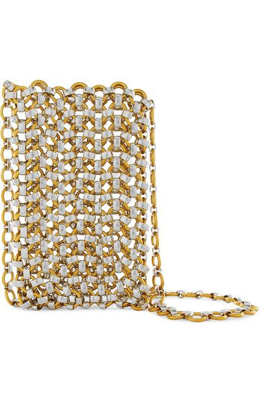 Gabrielle S Amazing Fantasy Closet Laura Lombardi Gold And Silver Tone North South Clutch