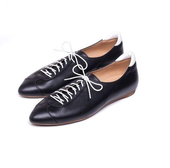 BURLINKA   Sale 40% off! Black shoes. Women shoes, sneakers, Black oxford shoes, handmade leather shoes. Alexander model.