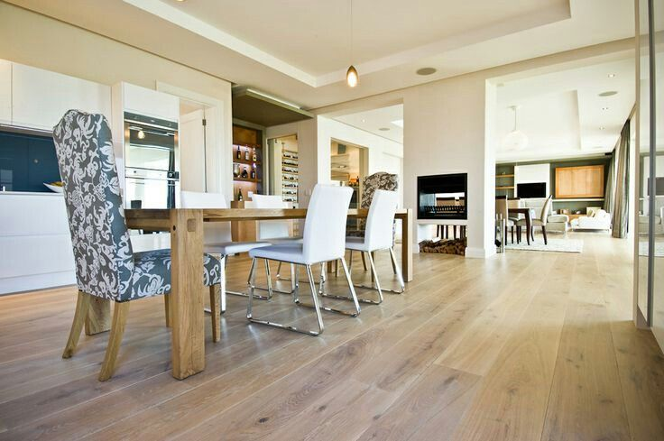This amazing floor was fitted throughout this family home in Steenberg