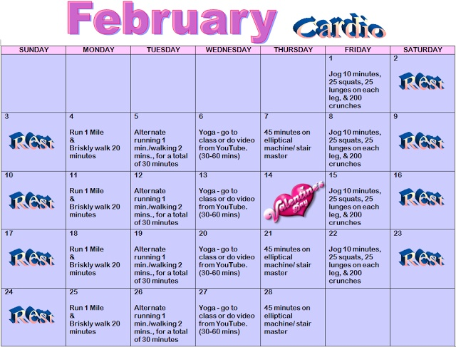 Best  February Workouts Images On   Monthly
