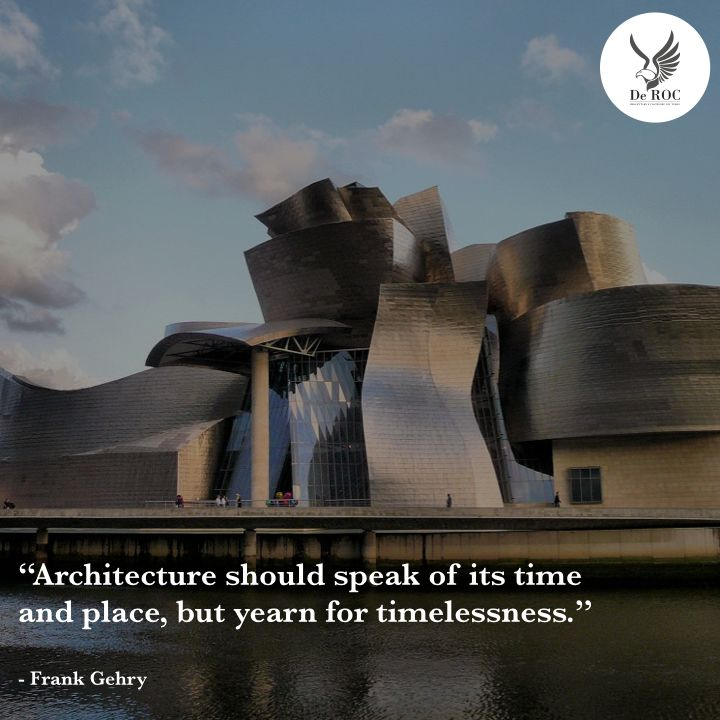 """Architecture should speak of its time and place, but yearn for timelessness."" - Frank Gehry #quotes #architecture #design"
