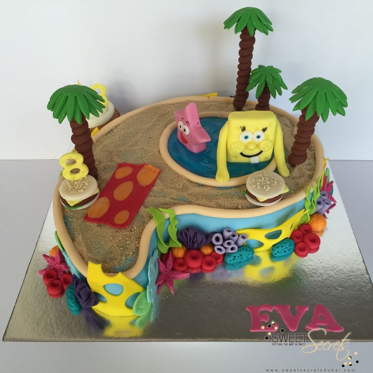 Sponge Bob Cake www.sweetsecretsdubai.com