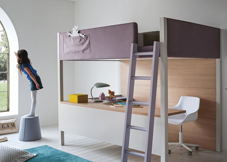 123 best nidi kids furniture battistella images on for Modern bunk bed with desk
