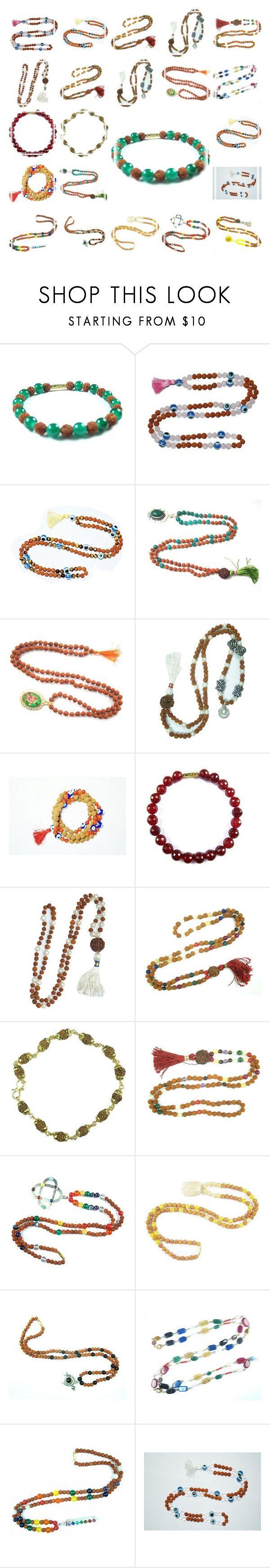Japamala Beads by tarini-tarini on Polyvore featuring GURU, gift, beads, yoga and japamala