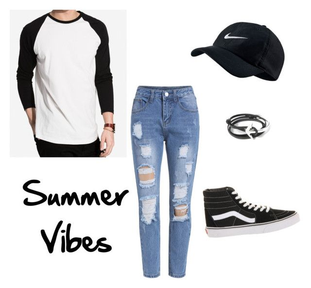 """""""Summer Vibes"""" by anissa-c on Polyvore featuring NLY MAN, Vans, NIKE and MIANSAI"""