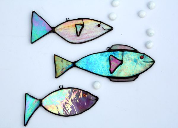 Glass Art by Maria Barber - Fish