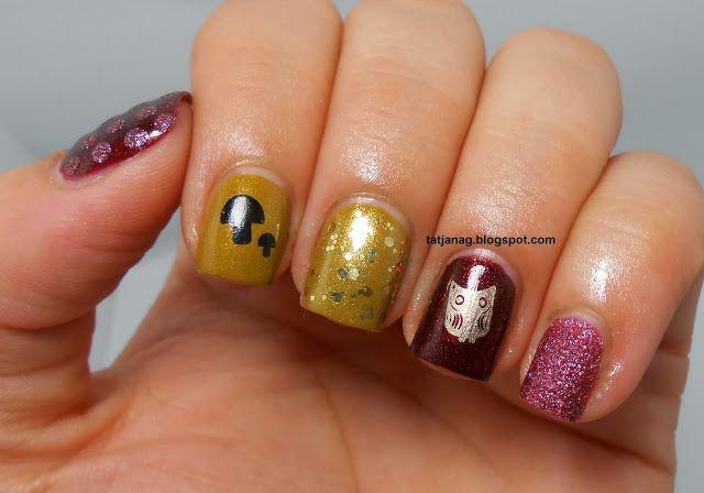Fall Skittle Manicure | My Nail Art | Pinterest