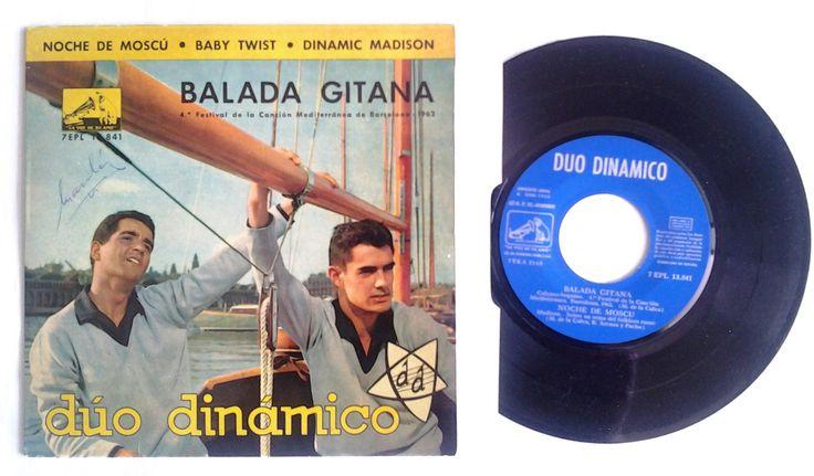 DUO DINÁMICO - EP VINILO. 1962. Balada gitana. Noche de moscú. Baby twist. Dinamic madison. Disco comprobado. (EL DUENDE VERDE en todocolección)