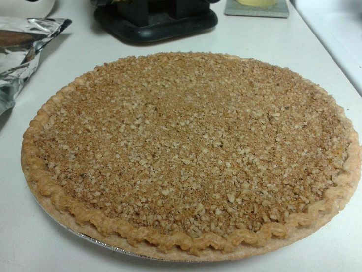 Pumpkin Pie with Brown Sugar-Walnut topping http://www.bonappetit.com ...