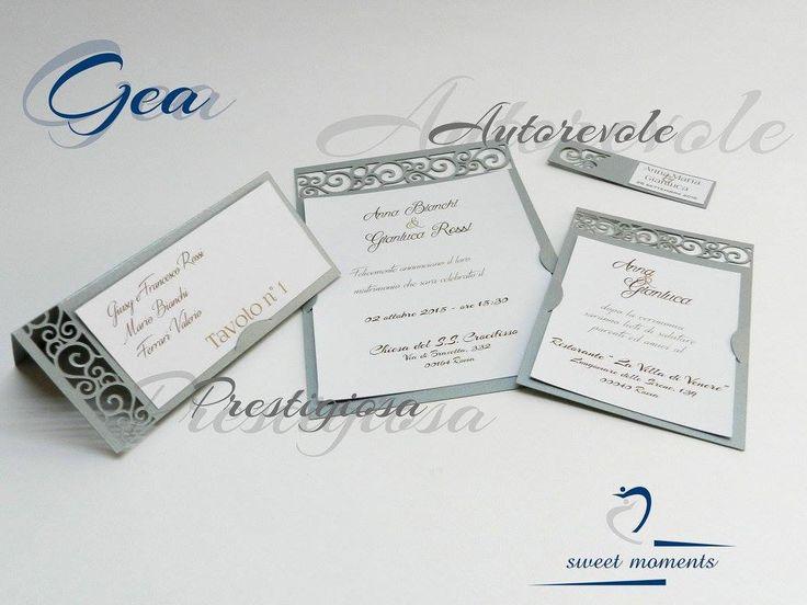 Set invito e partecipazione di nozze, con segnaposto e biglietto bomboniera in coordinato. Per informazioni, inviare un'email a: sales.sweetmoments@gmail.com