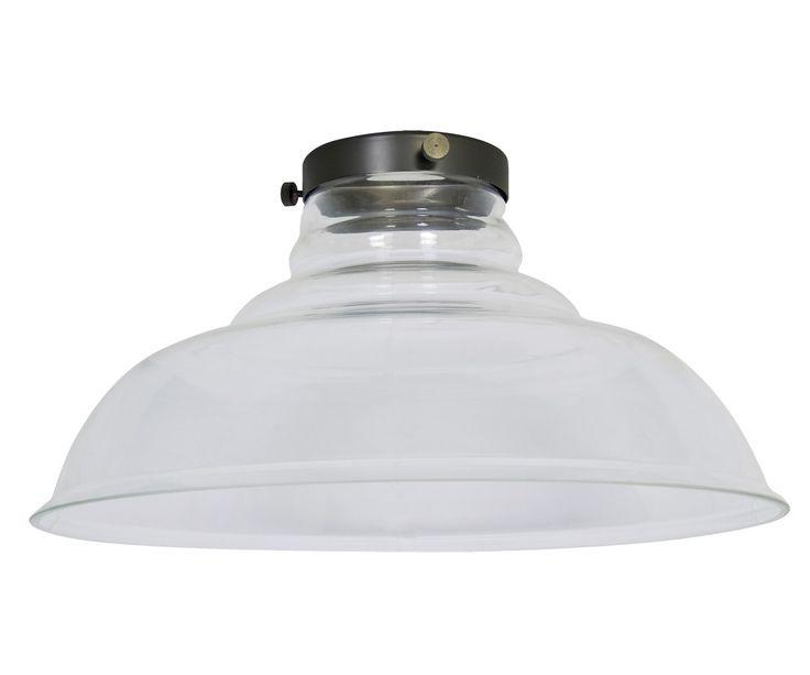 Manor 350mm Barn Glass Shade in Clear | Manor Mix 'n' Match Range | Pendant Lights | Lighting