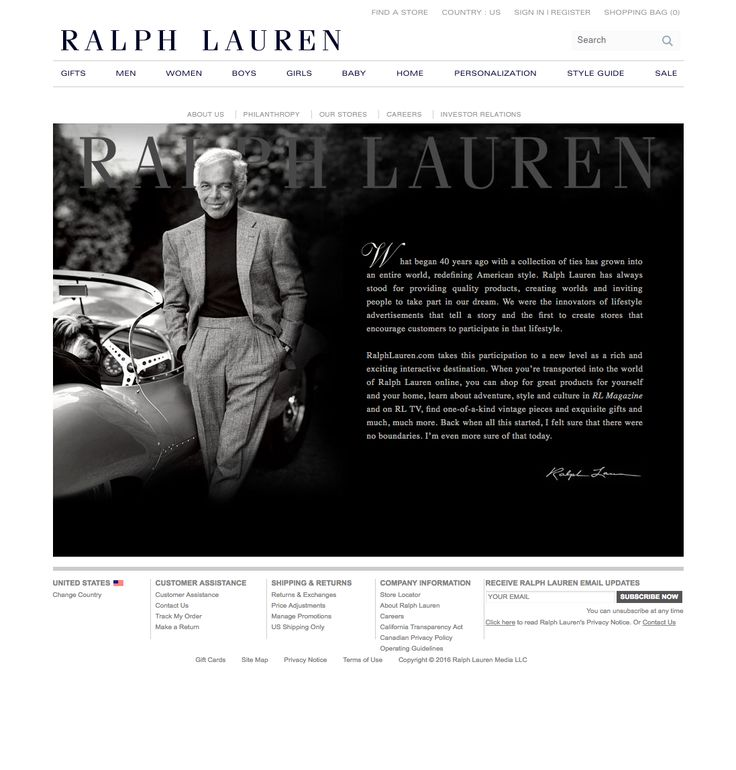 ralph lauren - about us page 2016