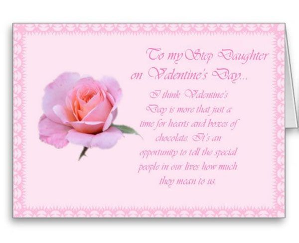 pretty rose valentine day daughter card - Valentines Day Daughter