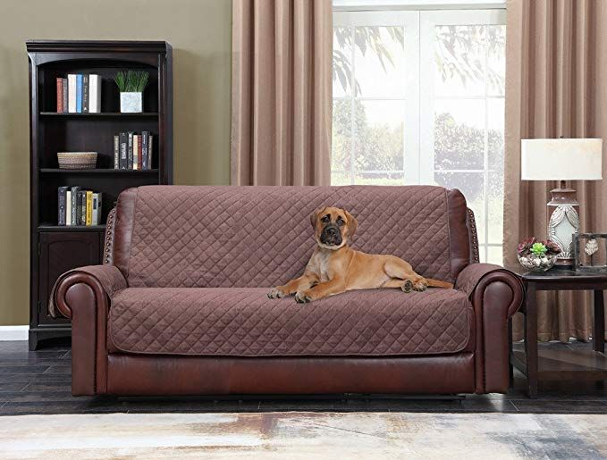 Home Queen Premium Couch Slipcover For Leather Sofa Non Slip Water Resistant Sofa Protector For Dogs Kids Pets Slip Covers Couch Pet Sofa Cover Slipcovers