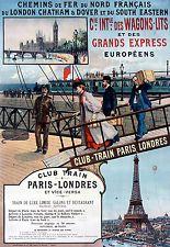 Affiche chemin de fer Nord - Club-Train Paris Londres