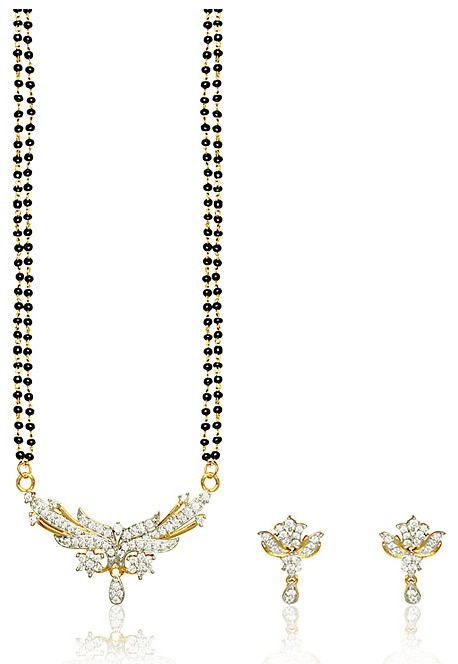 #White American #Diamond Studded #Mangalsutra @ $52.01