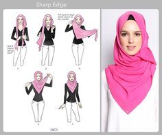 Sharp Edge hijab tutorial by duckscarves. ♥ Muslimah fashion & hijab style
