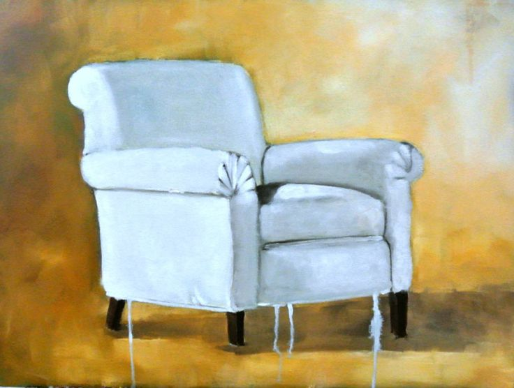 White Chair, oil painting by Mila Posthumus. Browse online at StateoftheART http://bit.ly/1upwiTF