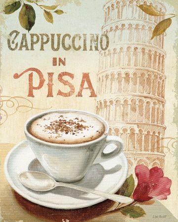Cafe in Europe IV Impressão artística - coffee aroma