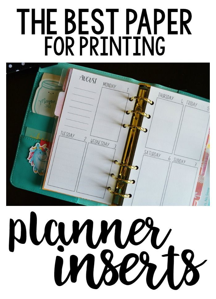 The BEST Paper for Printing Planner Inserts