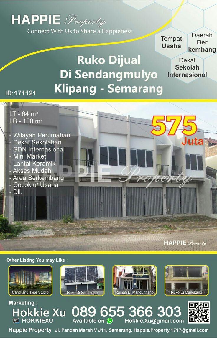 Dijual Ruko 2 Lantai Di Sendangmulyo Klipang Semarang  Minat Hub : Hokkie Xu - 089 655 366 303 Available on WhatsApp Pin BBM - HOKKIEXU David Henky - 085 72763 9999 Available on WhatsApp