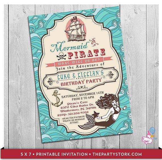 Best 25 Mermaid party invitations ideas – Mermaid Party Invitations Printable