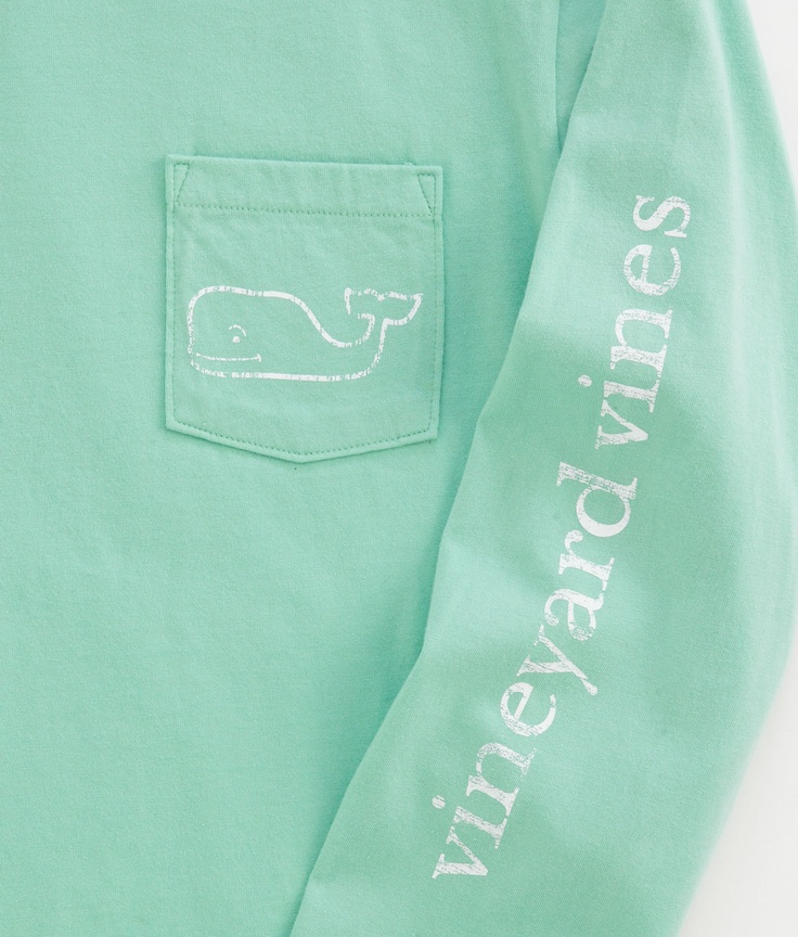 Vineyard Vines Mint Long-Sleeve Tshirt