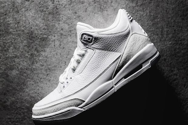 "Air Jordan 3 ""Pure White"" New Images Surface  e2ba1866a1"