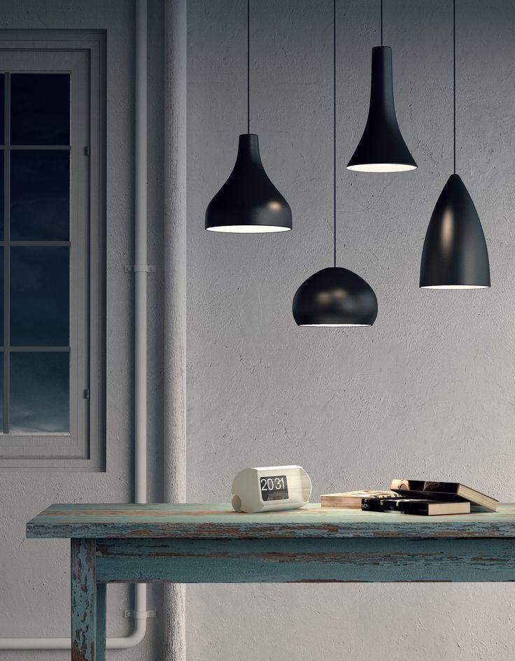 Lampada a sospensione a LED in metallo BLANCNOIR by Olev by CLM Illuminazione | design STEFANO TONELLOTTO, Marco Alessi, Simone Menegatti