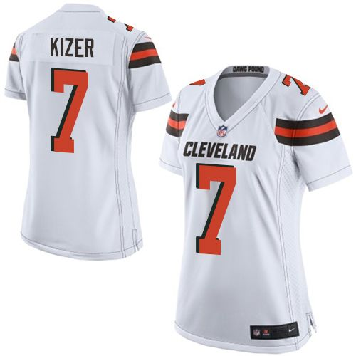 Women's Nike Cleveland Browns #7 DeShone Kizer Limited White NFL Jersey