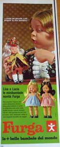 PAR AMOUR DES POUPEES :: LISA (LISA E LUCIA) MINI FURGA, 16CM, 1966, FURGA