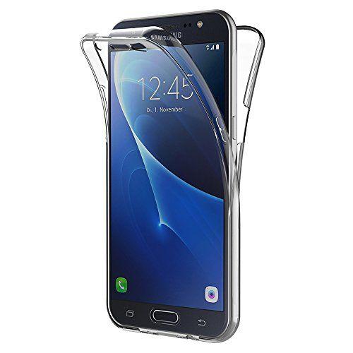 cool Funda Samsung Galaxy J7 2016, AICEK Transparente Silicona 360°Full Body Fundas para Samsung J7 2016 Carcasa Silicona Funda Case