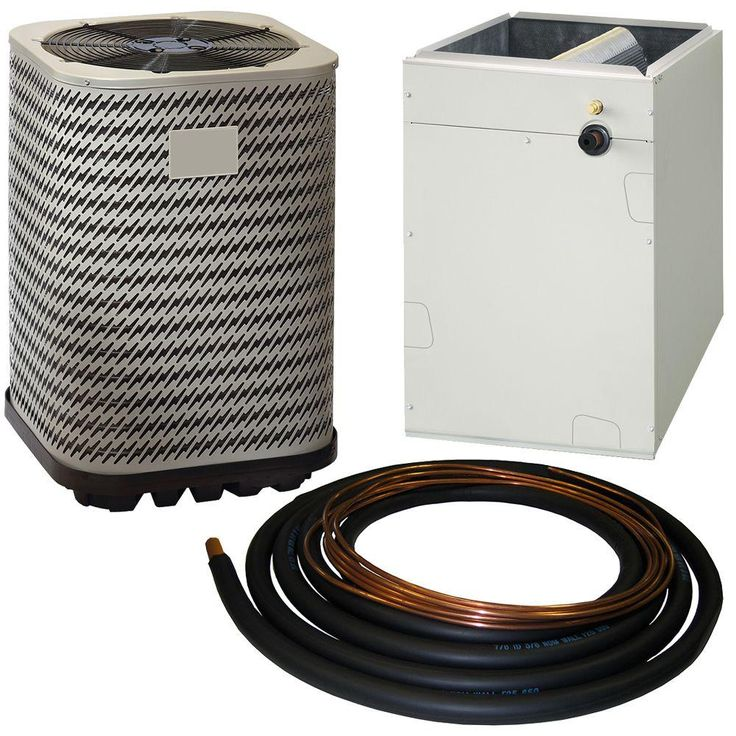 1.5 Ton 13 Seer R-410A Split System Package Central Air Conditioning System, Beige/Bisque