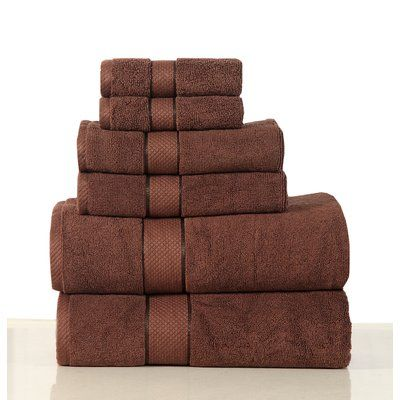 Friends & Home Luxurious 6 Piece Bath Towel Set Color: Chocolate