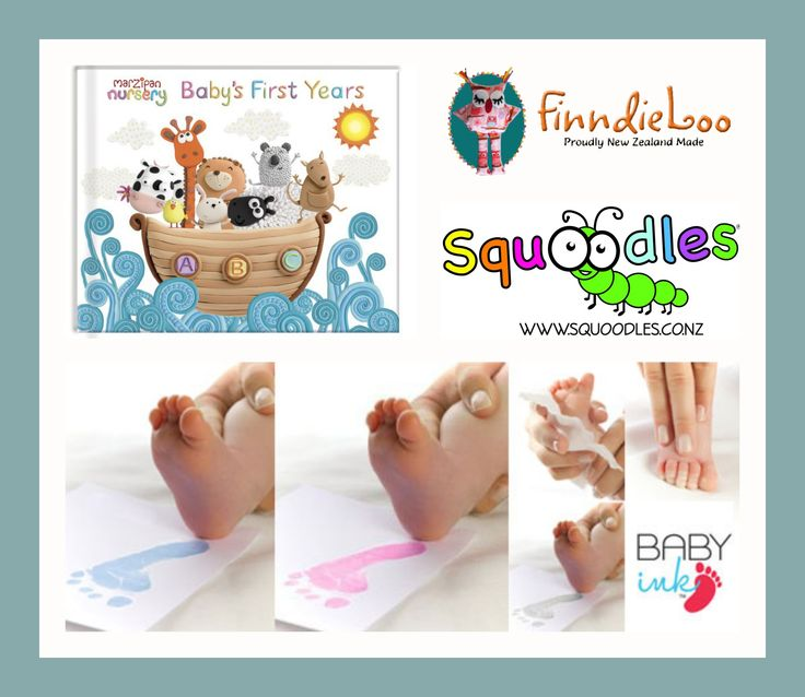 Enter to win: Squoodles and FinndieLoo are giving away a Baby Ink, Hand and Footprint Inkless Printing Kit and, a Baby's First Years record book! | http://www.dango.co.nz/s.php?u=R603ikyn1646