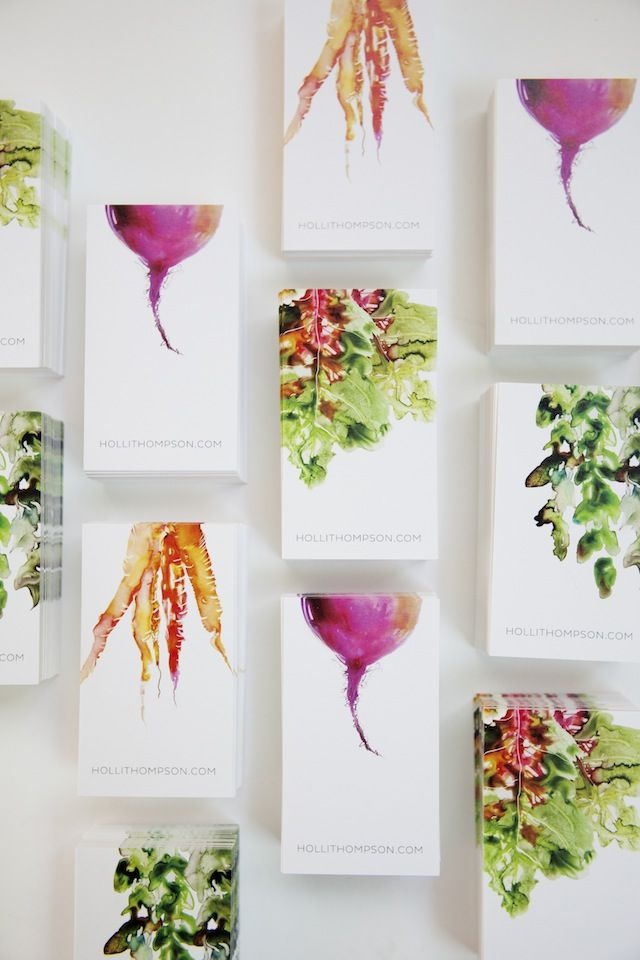 The most beautiful business cards I've ever seen. <3