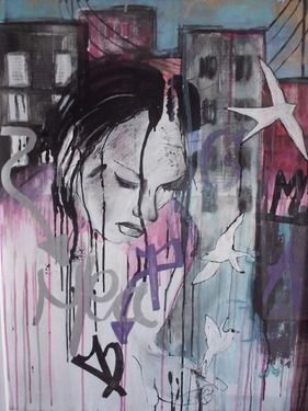 """Saatchi Art Artist Mary-Louise Bicket; Painting, """"I'll let you go"""" #art"""