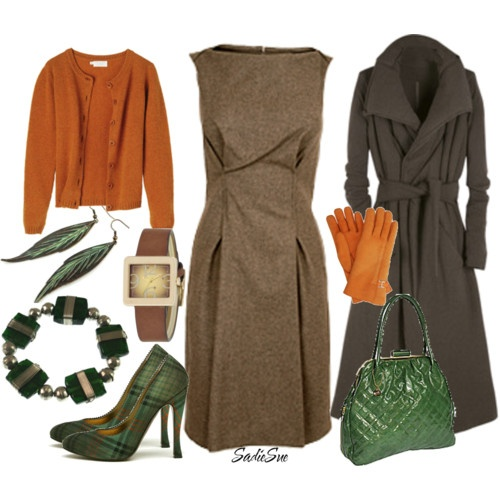 This is definitely something i would wear forest green orange and browns with
